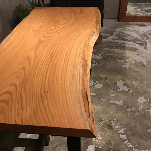 一枚板 レッドオーク材W1515×D745×H53mm